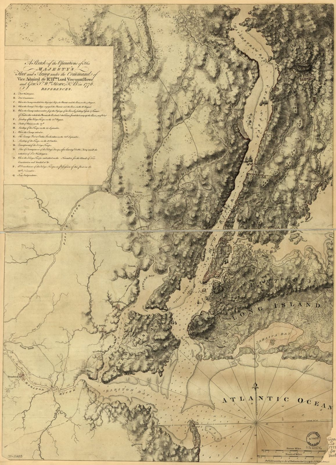 A sketch of the operations of His Majesty's fleet and army under the command of Vice Admiral the Rt. Hble. Lord Viscount Howe and Genl. Sr. Wm. Howe, K.B., in 1776.