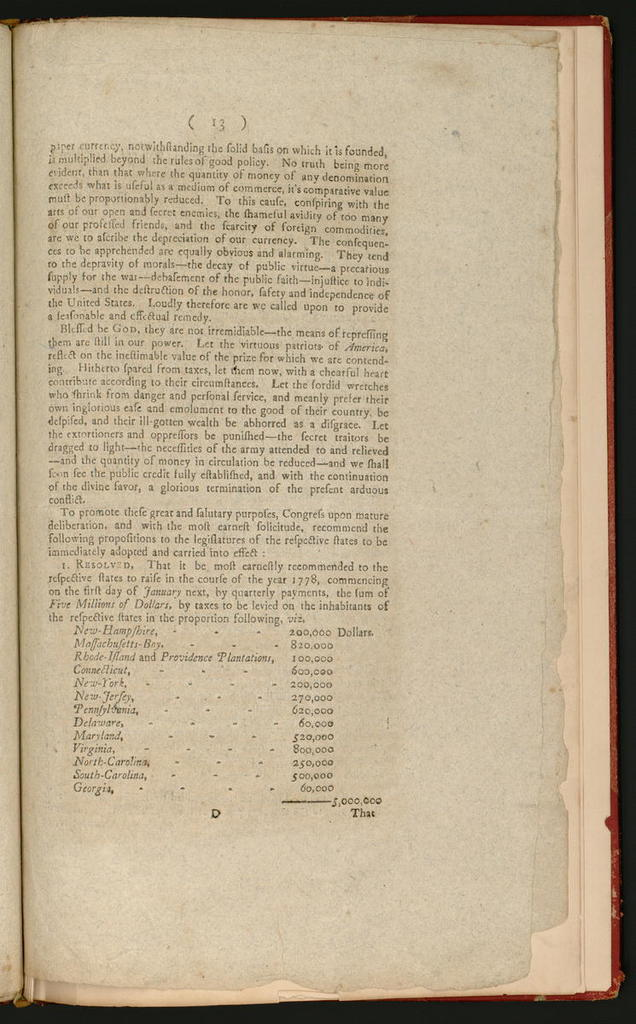 Articles of confederation and perpetual union between the states of New-Hampshire, Massachusetts-Bay, Rhode-Island and Providence plantations, Connecticut, New-York, New-Jersey, Pennsylvania, Delaware, Maryland, Virginia, North-Carolina, South-Carolina and Georgia.