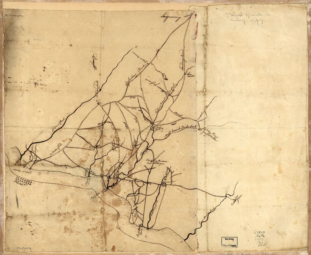 Draft of roads in New Jersey.