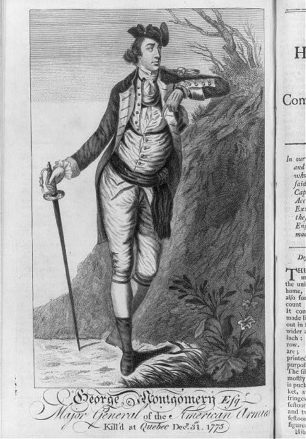 George Montgomery, Esq'r. major general of the American armies - kill'd at Quebec Decr. 31st. 1775
