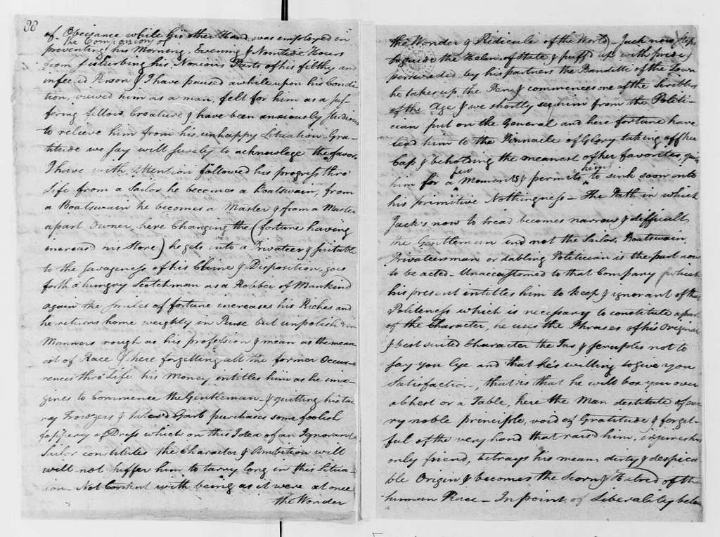 "George Washington Papers, Series 4, General Correspondence: ""A Letter Supposed to be Written by"" Henry B. Livingston, June 9, 1777, Address on Military Etiquette"