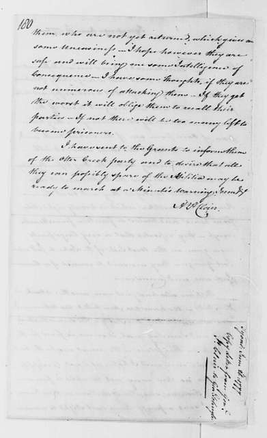 George Washington Papers, Series 4, General Correspondence: Arthur St. Clair to Philip J. Schuyler, June 26, 1777