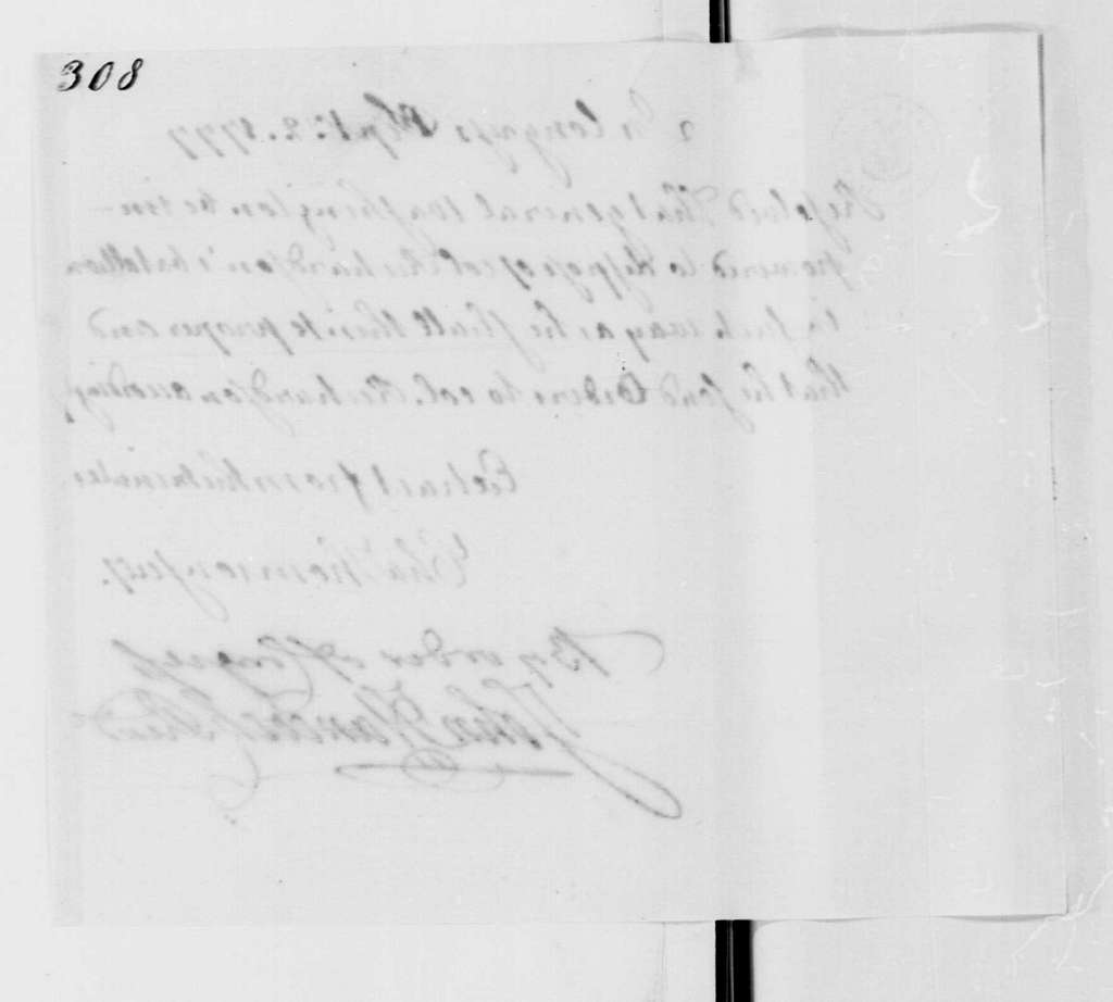 George Washington Papers, Series 4, General Correspondence: Continental Congress, September 2, 1777, Resolution on Maryland Battalion