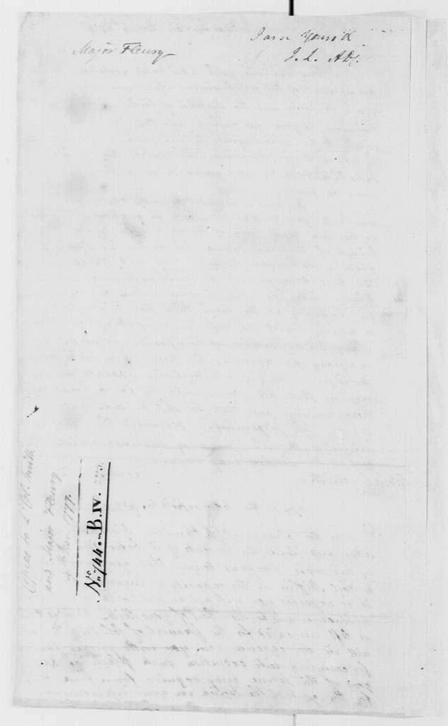 George Washington Papers, Series 4, General Correspondence: George Washington to Samuel Smith, November 4, 1777