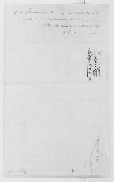 George Washington Papers, Series 4, General Correspondence: George Washington to William Livingston, October 22, 1777