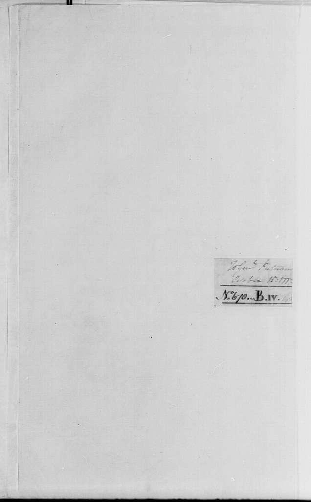 George Washington Papers, Series 4, General Correspondence: George Washington to Israel Putnam, October 15, 1777