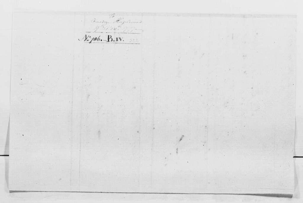 George Washington Papers, Series 4, General Correspondence: George Washington to John Hazelwood, November 19, 1777