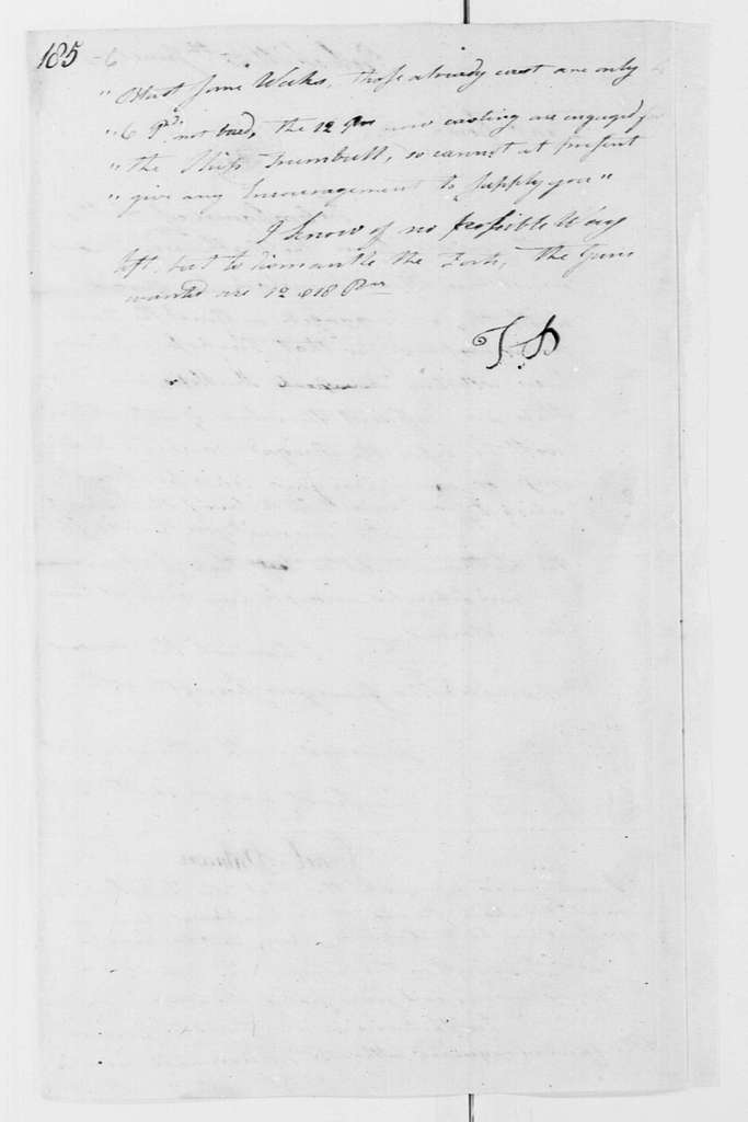 George Washington Papers, Series 4, General Correspondence: Israel Putnam to George Washington, June 30, 1777
