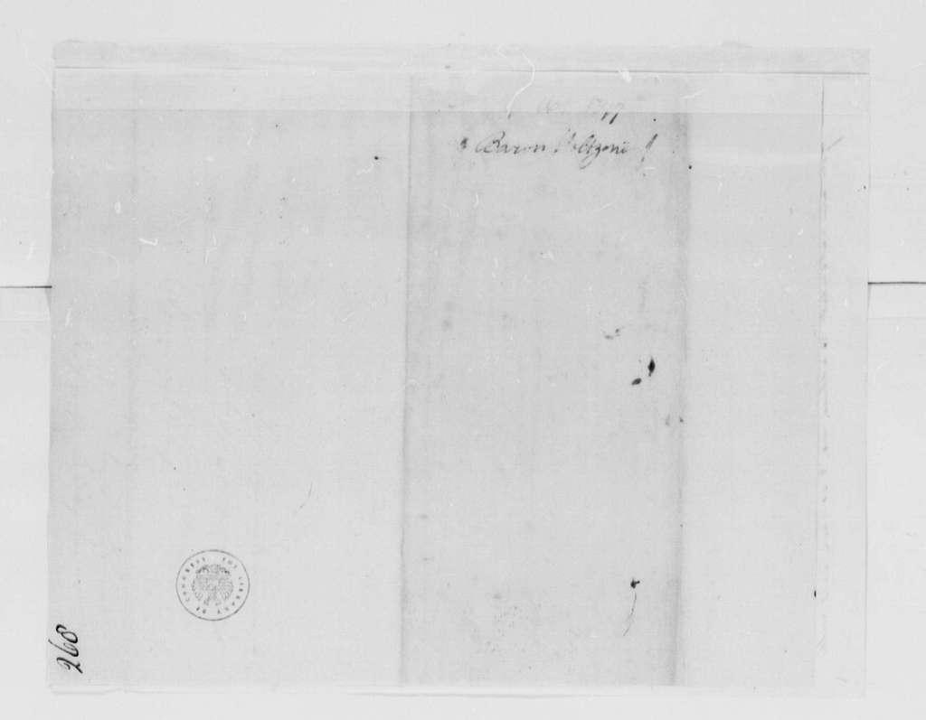 George Washington Papers, Series 4, General Correspondence: Lewis Casimir, Baron de Holtzendorff to George Washington, August 16, 1777, 19th-century transcription by William B. Sprague, with original docket
