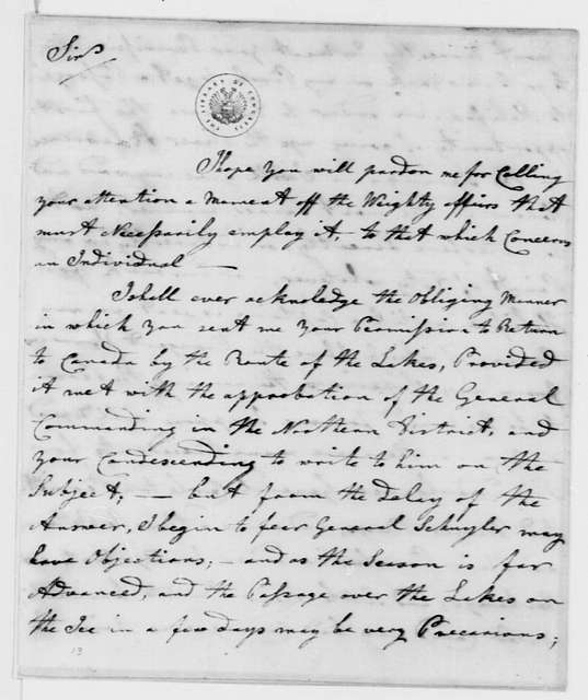 George Washington Papers, Series 4, General Correspondence: Thomas Gamble to George Washington, February 17, 1777