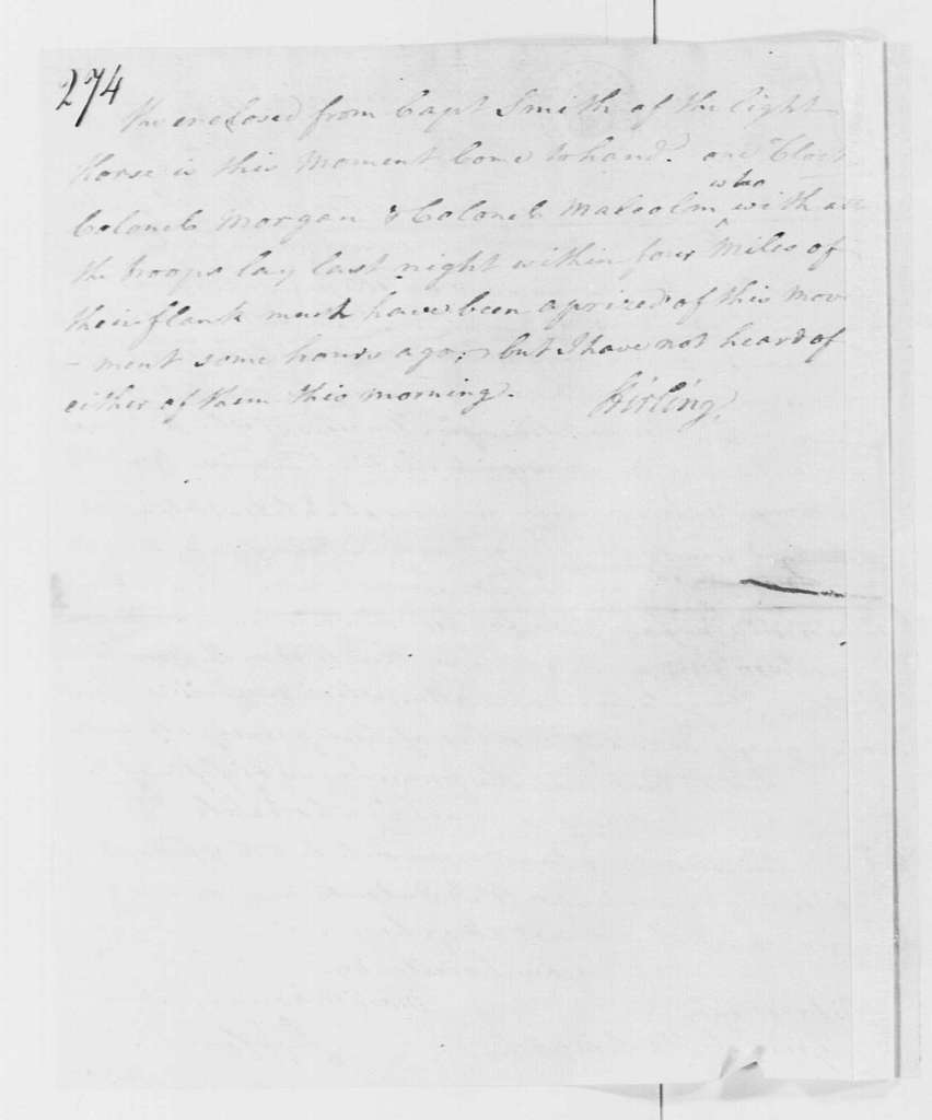 George Washington Papers, Series 4, General Correspondence: William Alexander, Lord Stirling to George Washington, December 28, 1777