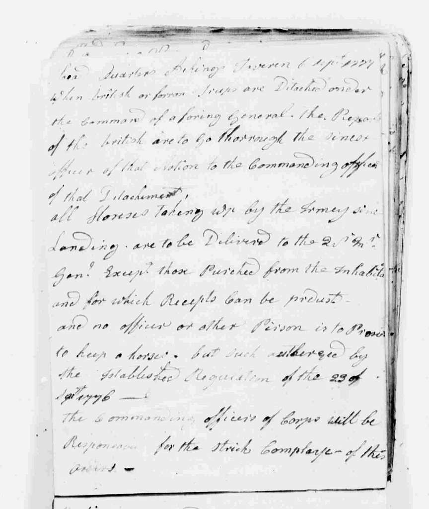 George Washington Papers, Series 6, Military Papers, 1755-1798, Subseries 6B, Captured British Orderly Books, 1777-1778: Captured British Army 49th Regiment Orderly Book, June 25-September 10, 1777