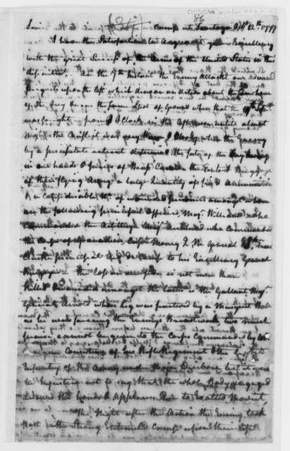 Horatio Gates to John Hancock, October 12, 1777, Success against John Burgoyne and British Army