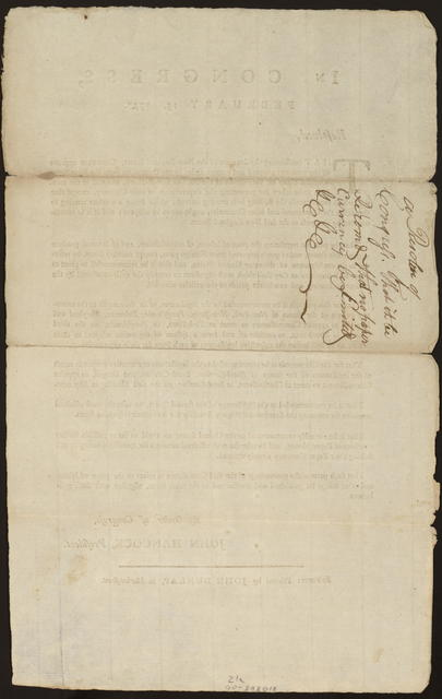 In Congress, February 15, 1777 : Resolved, that considering the situation of the New-England states, Congress approve of the measures adopted and recommended by the committee from the four New-England states for the defence of the state of Rhode-Island, and also of the measures to be taken for preventing the depreciation of their currency ...