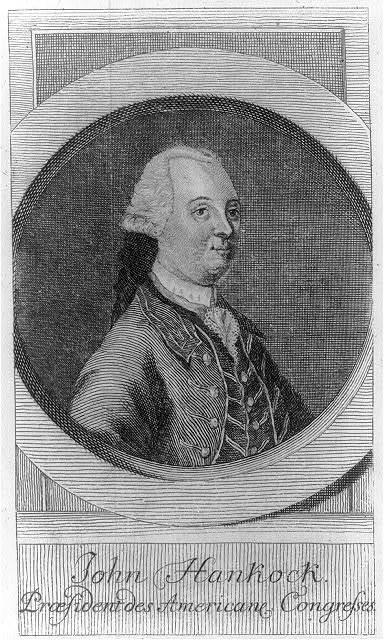 John Hankock - praesident des Americane congresses