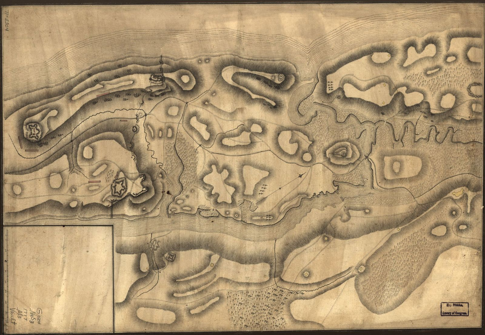 Fort Washington Map.Map Of Defenses Of New York Island From Fort Washington To Fort
