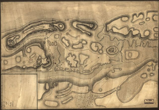 [Map of defenses of New York Island from Fort Washington to Fort Independence, with redoubts, etc. planned between.