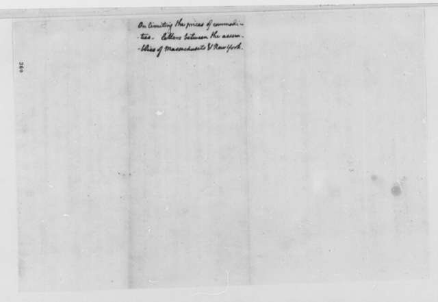 Massachusetts and New York General Assembly, February 1777, Correspondence on Limiting the Prices of Commodities