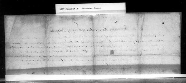 November 28, 1777, Lancaster, Christ Church Parish, against dissolution of the vestry.