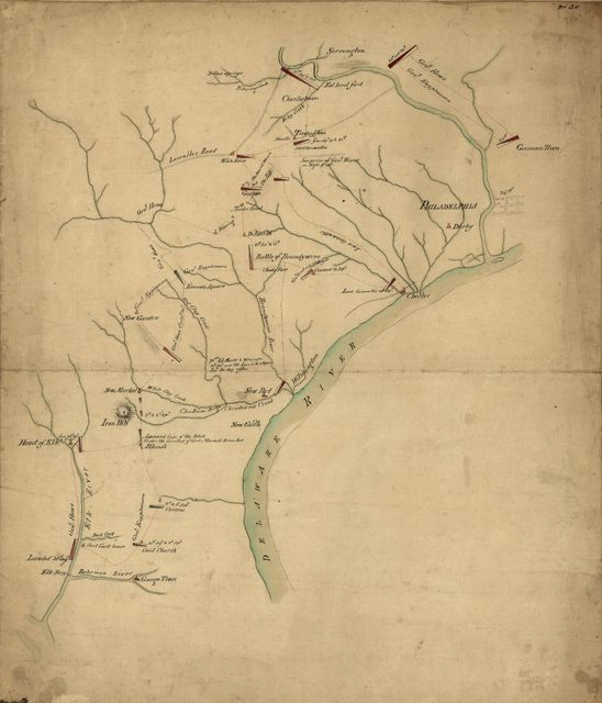 [Operations of the British army, from the 25th August to 26th Sept. 1777]