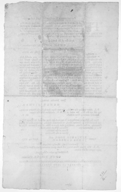 Pennsylvania War-office. April 13th, 1777. This board think it their duty to publish a letter received from Mr. Henry Fisher, at Lewistown, by the Honourable the Navy Board of this State, as it is of importance at this critial period, that all t