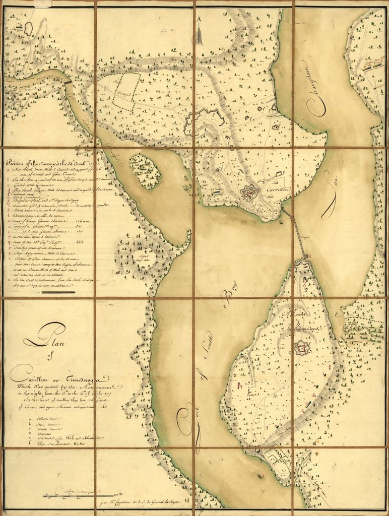 Plan of Carillon ou [sic] Ticonderoga : which was quitted by the Americaines in the night from the 5th to the 6th of July 1777 /
