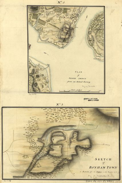 Plan of Perth Amboy from an actual survey. Sketch of Bonham Town.