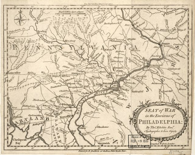 Seat of war in the environs of Philadelphia:
