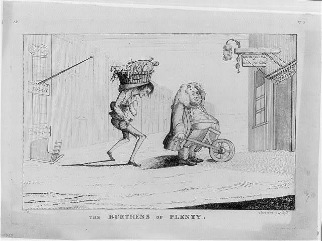 The burthens of plenty / H. (or N.) R. ; J. T. [?].