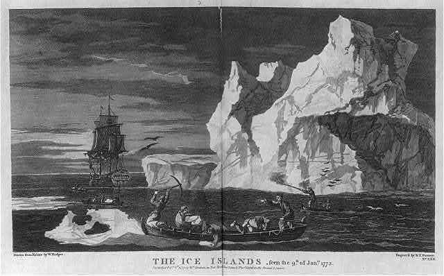 The Ice Islands, seen the 9th of Jan. 1773