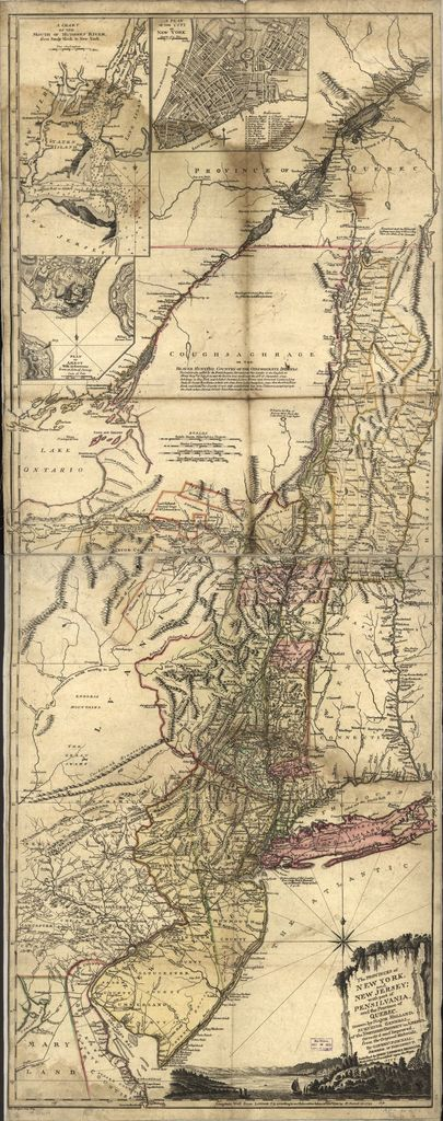 The provinces of New York, and New Jersey; with part of Pensilvania and the province of Quebec. Drawn by Major Holland, Surveyor General of the Northern District in America.