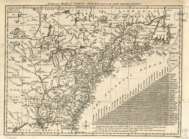 A general map of North America; from the latest observations.