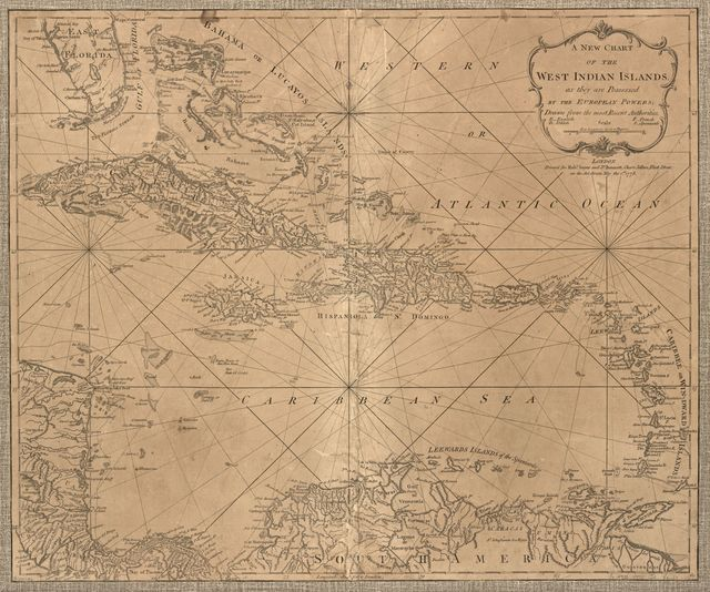 A new chart of the West Indian islands;