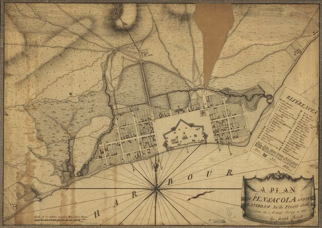 A plan of Pensacola and its environs in its present state, from an actual survey in 1778.