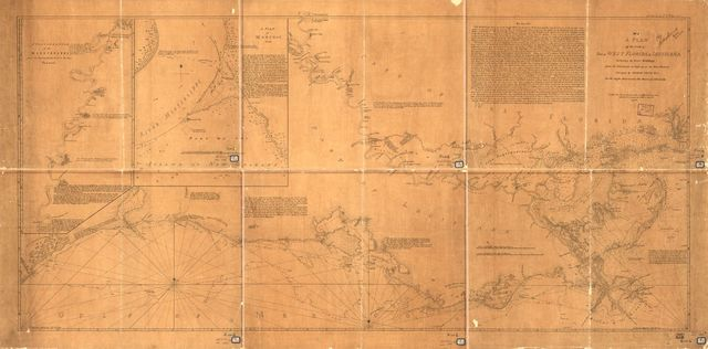 A Plan of the coast of part of west Florida & Louisiana : including the River Yazous /