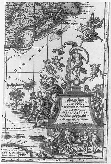 Accurata delineatio celeberrimæ regionis Ludovicianæ vel Gallice Louisiane oł. Canadæ et Floridæ adpellatione in Septemtrionali America ... / Gottfri Rogg del. ; M. Rhein sc.