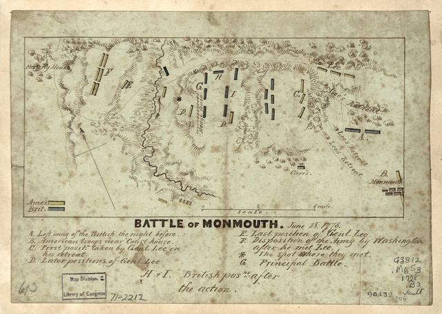 Battle of Monmouth, June 28, 1778.