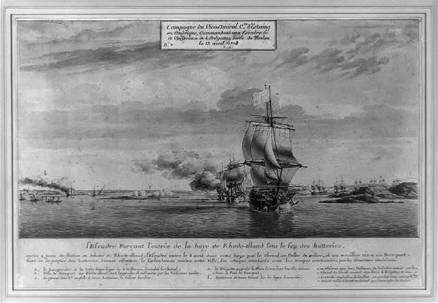 Campagne du Vice-Amiral [sic] Cte. d'Estaing en Amêrique, commandant une escadre de 12 vaisseaux de 4 fregattes, sortie de Toulon le 13 avril 1778