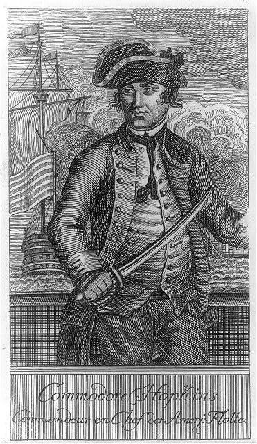 Commodore Hopkins - commandeur en chef der Amerj: flotte