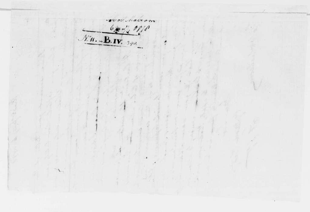 George Washington Papers, Series 4, General Correspondence: George Washington to William Malcom, January 6, 1778
