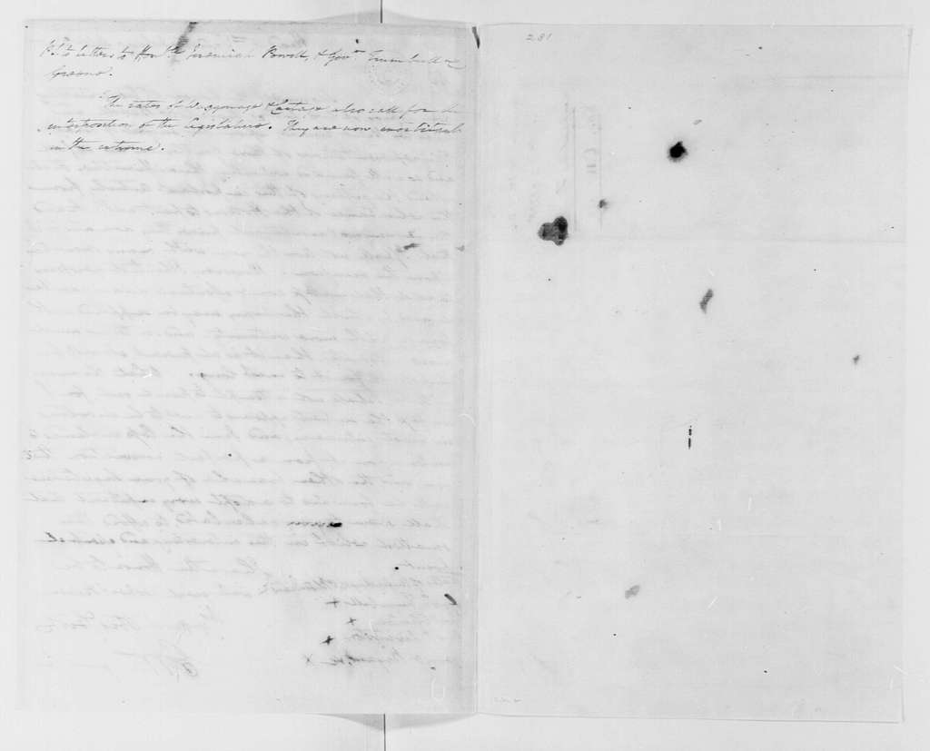George Washington Papers, Series 4, General Correspondence: George Washington to Jonathan Trumbull, et al, September 22, 1778, Circular Letter to States on Forage Procurement