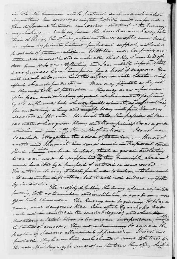 George Washington Papers, Series 4, General Correspondence: George Washington to John Banister, April 21, 1778