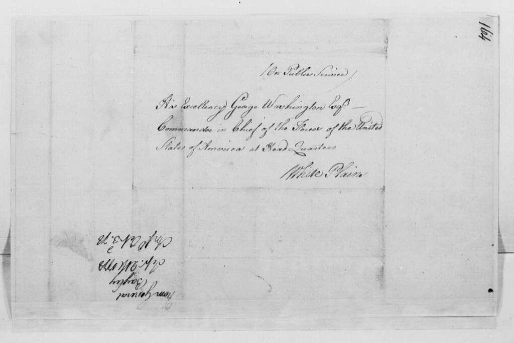 George Washington Papers, Series 4, General Correspondence: Jacob Bayley to George Washington, September 21, 1778