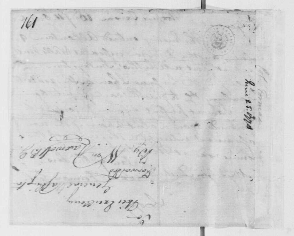 George Washington Papers, Series 4, General Correspondence: Samuel Forman to Philemon Dickinson, June 24, 1778