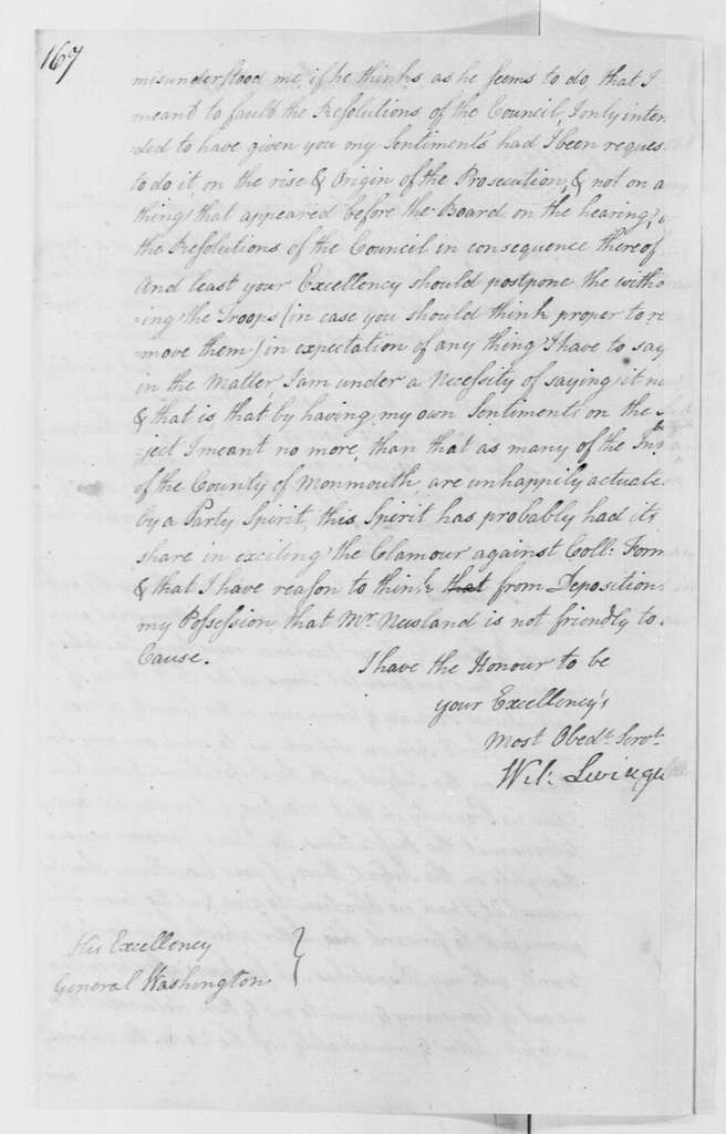 George Washington Papers, Series 4, General Correspondence: William Livingston to George Washington, March 14, 1778