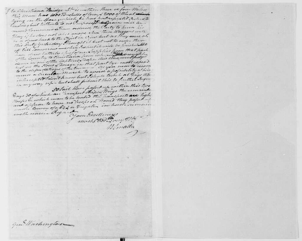 George Washington Papers, Series 4, General Correspondence: William Smallwood to George Washington, April 13, 1778