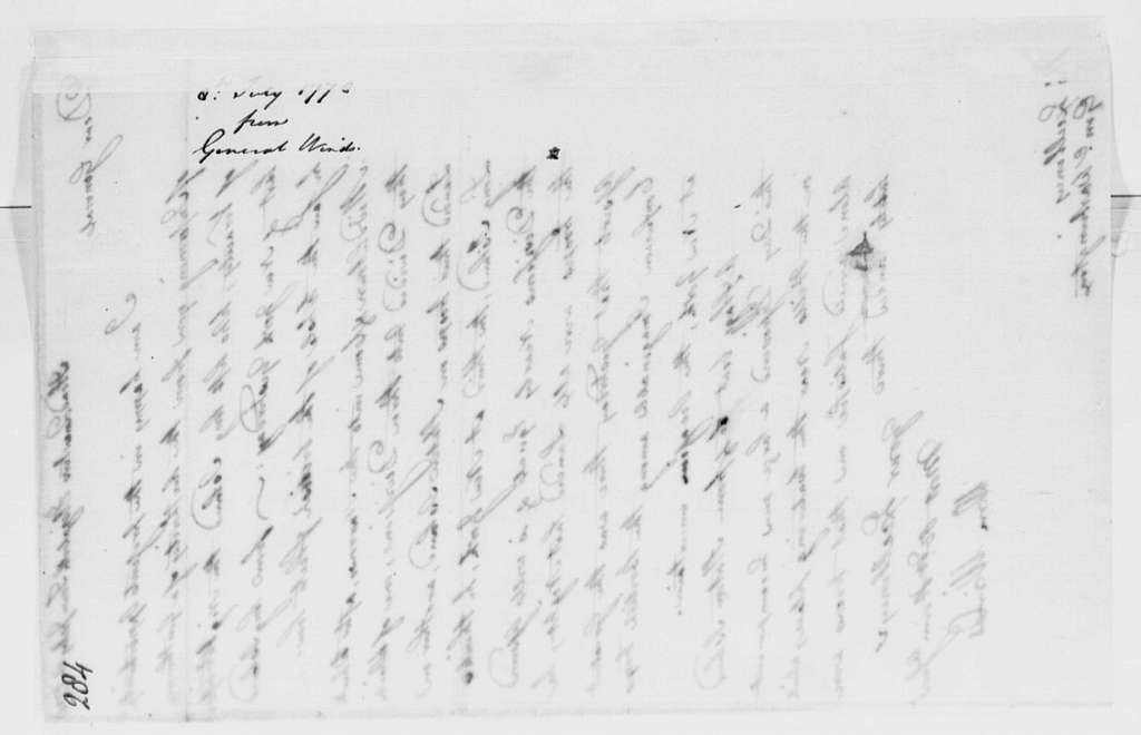 George Washington Papers, Series 4, General Correspondence: William Winds to George Washington, July 8, 1778