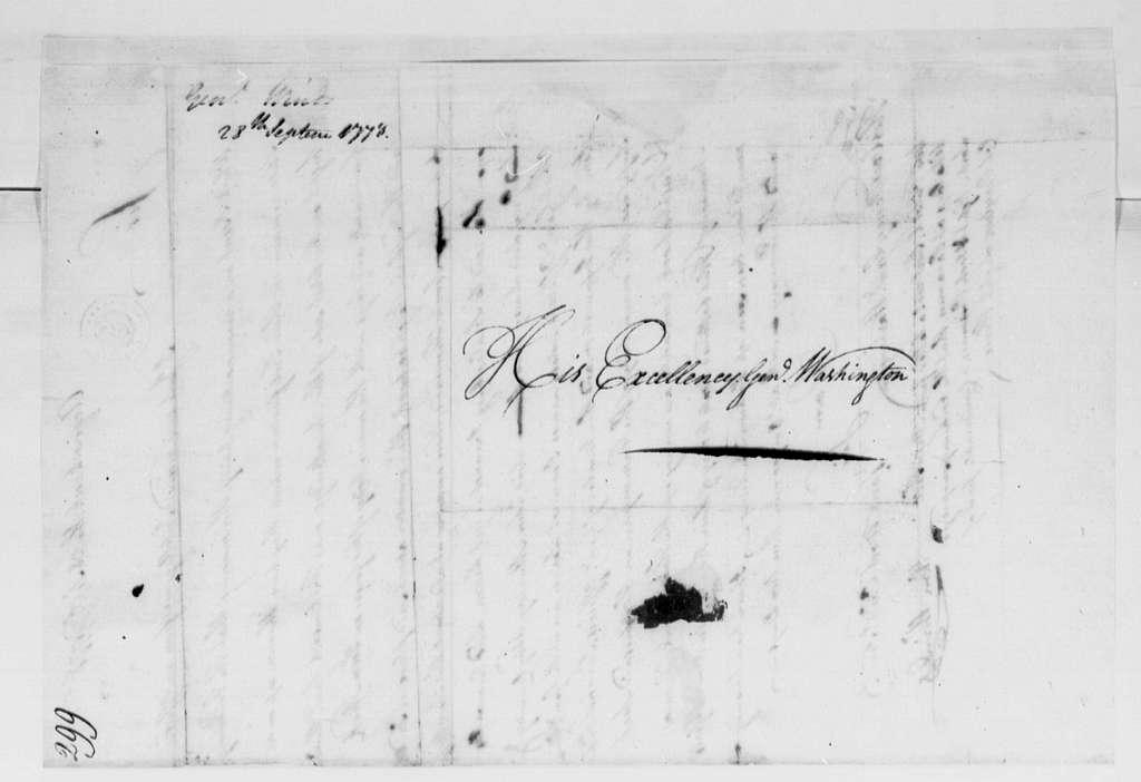 George Washington Papers, Series 4, General Correspondence: William Winds to George Washington, September 28, 1778