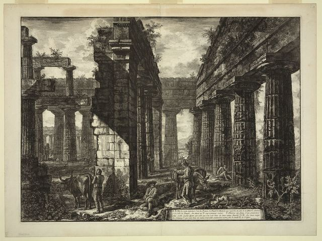 [Interior view of the Temple of Neptune, Paestum, plate 13]
