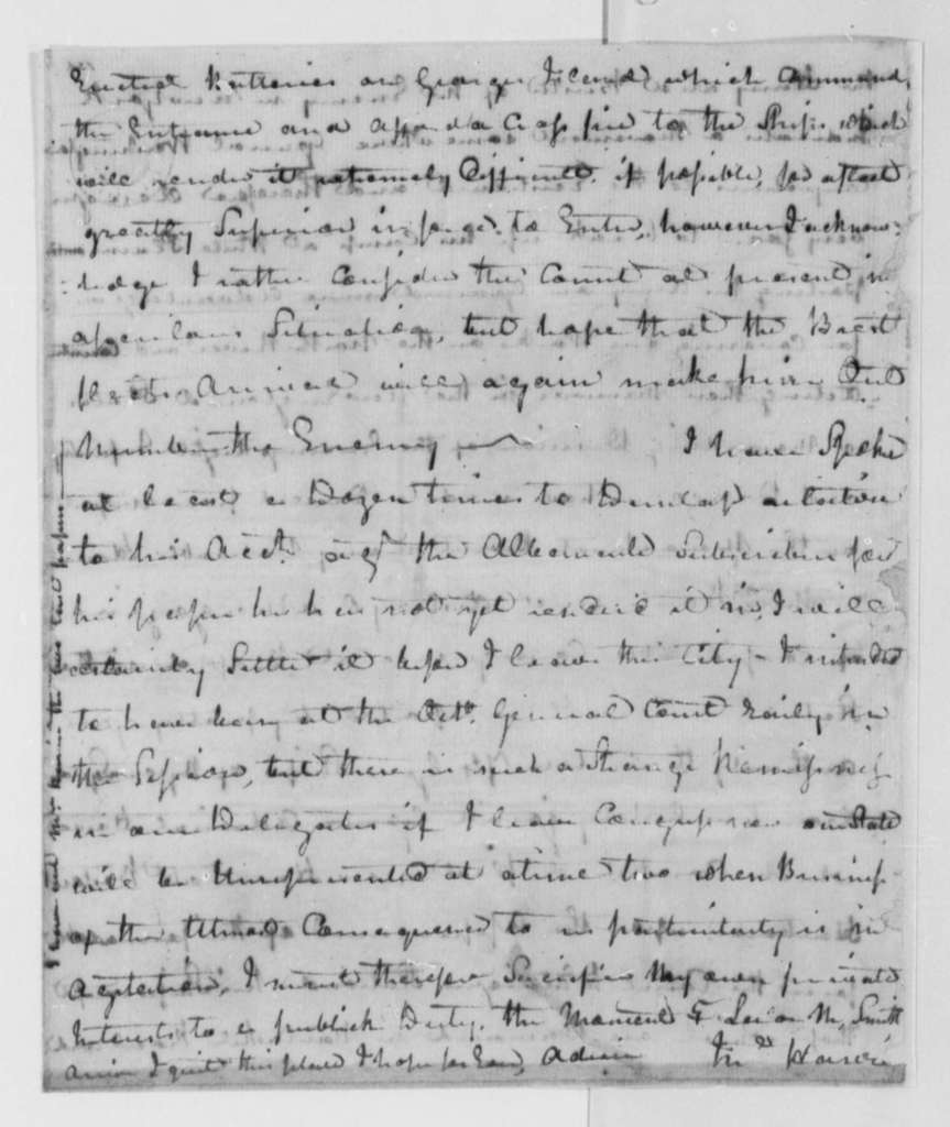 John Harvie to Thomas Jefferson, September 15, 1778, Search for Skilled Workers; French Fleet; Continental Army
